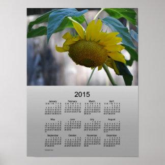 Poster del girasol de 2015 calendarios