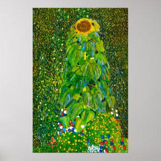 Poster del girasol de Gustavo Klimt