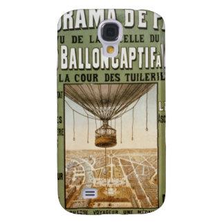 Poster del globo del aire caliente de París del fr Funda Para Galaxy S4