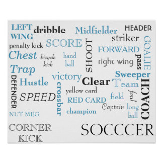 Poster del glosario del fútbol