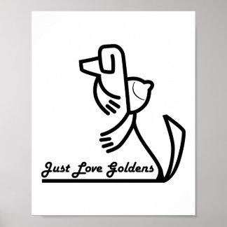 Poster del golden retriever, apenas amor Goldens