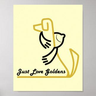 Poster del golden retriever, apenas logotipo de Go