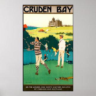 Poster del golf de Escocia del vintage