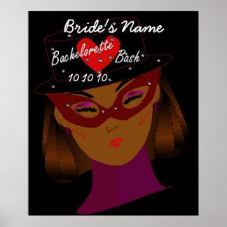 """Poster del golpe de Bachelorette"" - personalizabl Póster"