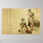 Poster del gorrión de Yoshiwara
