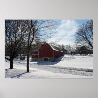 Poster del granero del invierno