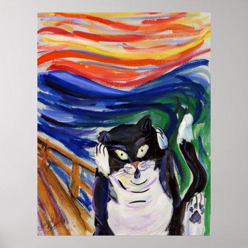 Poster del grito del gatito