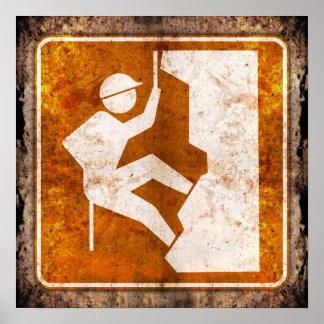 Poster del Grunge de la señal de tráfico de la car
