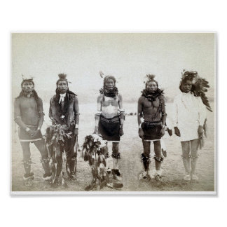 Poster del grupo del guerrero del nativo americano