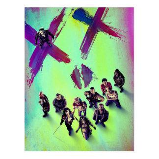 Poster del grupo del pelotón el | del suicidio tarjeta postal