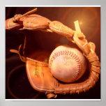 Poster del guante de béisbol