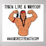 Poster del guerrero de Navajo