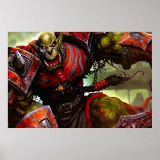 Poster del guerrero de Orc