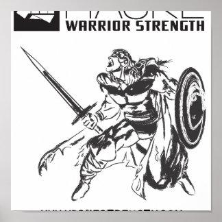Poster del guerrero de Viking con el logotipo alte