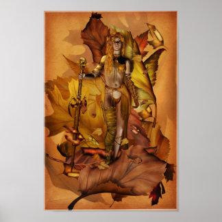 Poster del guerrero del Amazonas