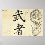 Poster del guerrero del dragón