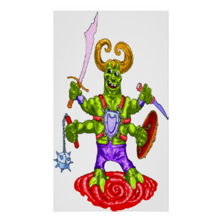 Poster del guerrero del monstruo