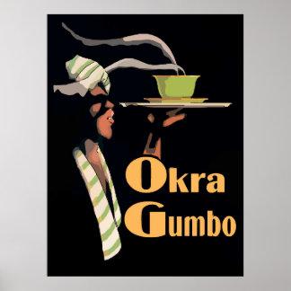 Poster del Gumbo del Okra Póster