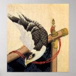Poster del halcón de Hokusai