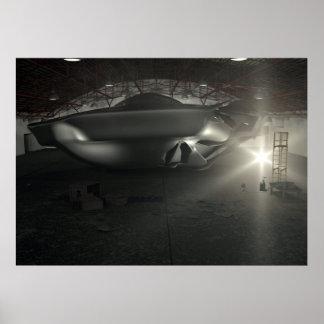 Poster del hangar del UFO de Roswell