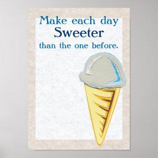 Poster del helado