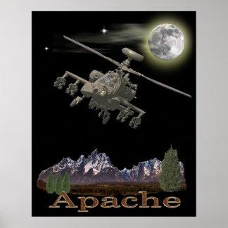 Poster del helicóptero de Apache