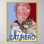 """""""Poster del héroe del gato"""""""