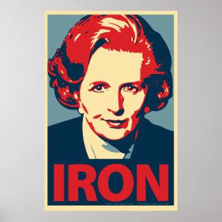 """Poster del """"hierro"""" de Margaret Thatcher Póster"""