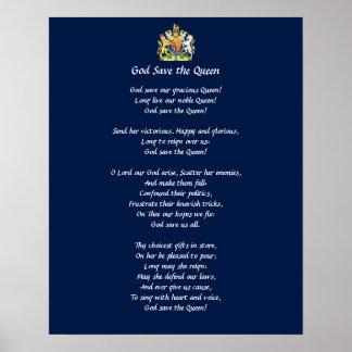 Poster del himno de Gran Bretaña (God Save the Póster
