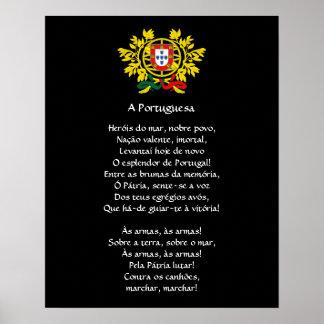 Poster del himno nacional de Portuguese*