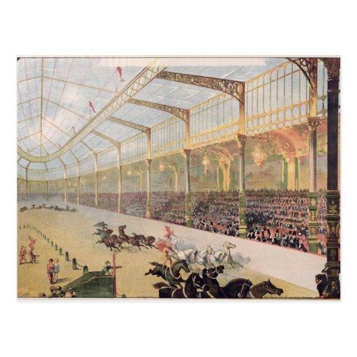 Poster del hipódromo de l'Alma Tarjeta Postal
