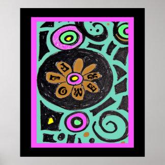Poster del Hippie del flower power