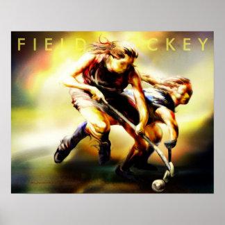 Poster del hockey hierba