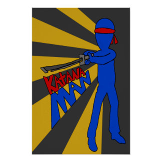 Poster del hombre de Katana