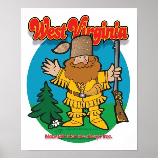 Poster del hombre de la montaña de Virginia Occide