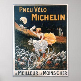 Poster del hombre de Michelin del vintage