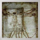 Poster del hombre de Vitruvian