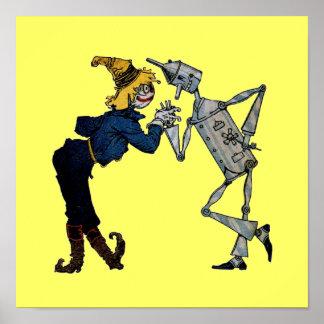 Poster del hombre del espantapájaros y de la lata