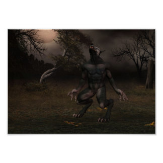 Poster del hombre lobo