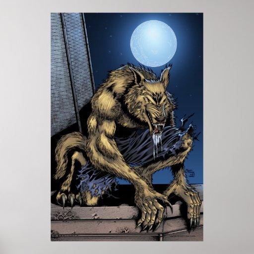 Poster del hombre lobo póster