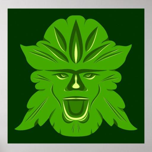 Poster del hombre verde