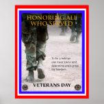 poster del honor del día de veteranos