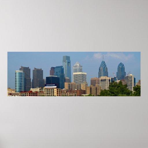 POSTER del horizonte 12x36 de Philadelphia
