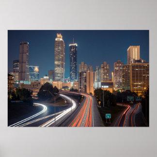 Poster del horizonte de Atlanta