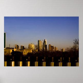Poster del horizonte de Austin Tejas