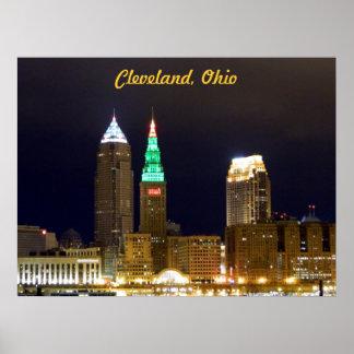 Poster del horizonte de Cleveland (luces del día d