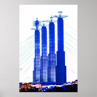 Poster del horizonte de Kansas City Póster