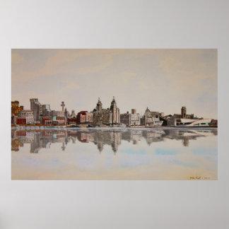 Poster del horizonte de Liverpool
