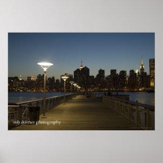 Poster del horizonte de Manhattan