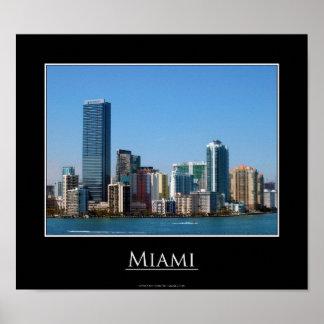Poster del horizonte de Miami